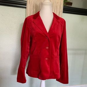 NWT Tribal red velvet button up jacket